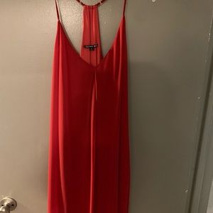 Short bright red semi formal dress